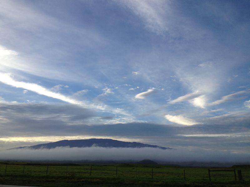 Cloud formations mauna kea