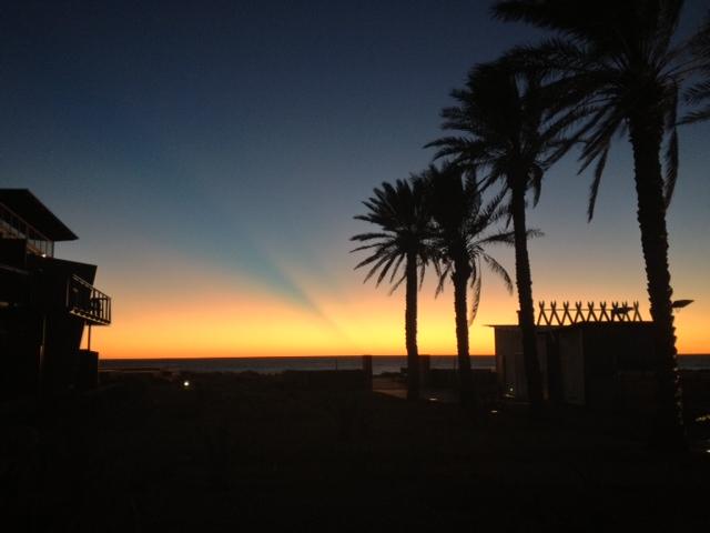 Sunset at novotel