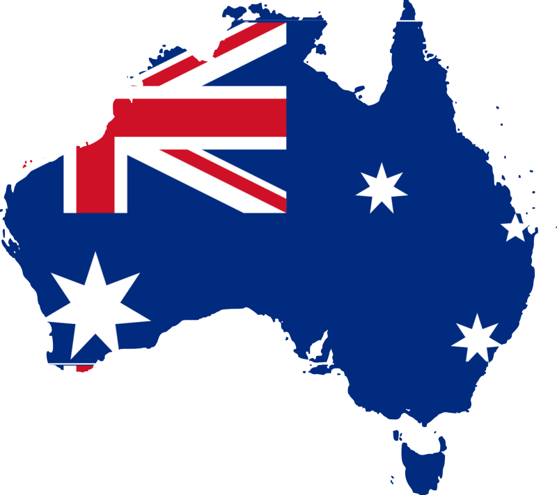 Australian-Flag-Map