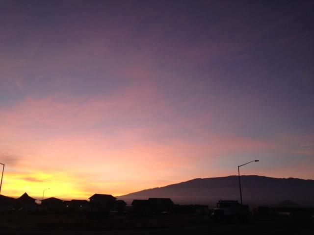 Sunrise oct 21, 2013